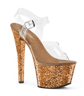 Plateau High Heels SKY-308LG - Bronze