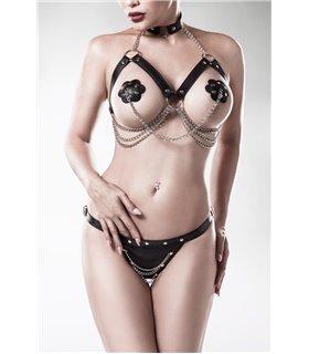 Grey Velvet 3-teiliges Erotikset von Grey Velvet schwarz - Dessous