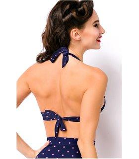 Atixo Retro-Bikini Top blau - Dessous