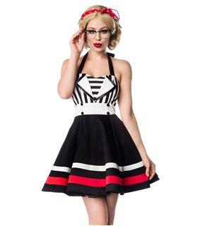 Belsira Neckholder-Kleid schwarz/weiß