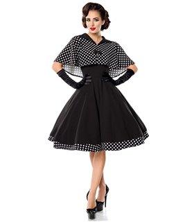 Belsira Swing-Kleid mit Cape schwarz/weiss - midi Kleider