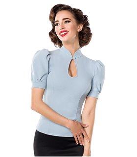 Belsira Jersey-Bluse schwarz - Blusen