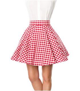 Belsira kurzer Swing-Rock rot/weiss - Röcke