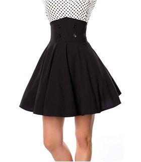 Belsira kurzer Swing-Rock schwarz - Röcke