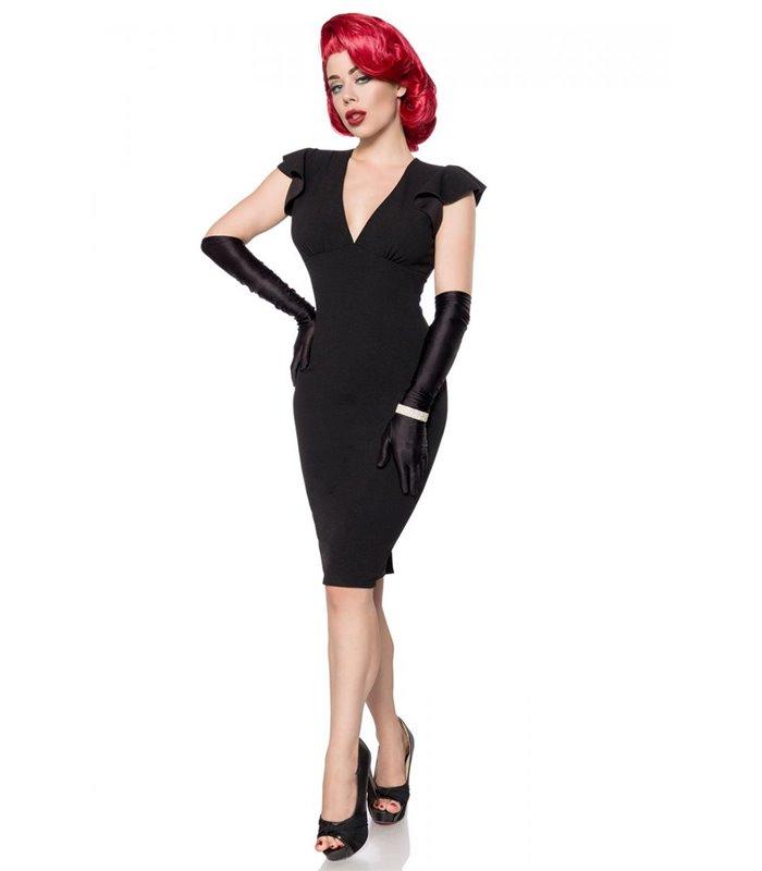 Belsira Retro Kleid Schwarz Midi Kleider Online Gunstig Kaufen