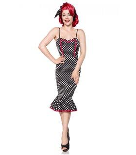 Belsira Retro Kleid schwarz/weiss - midi Kleider