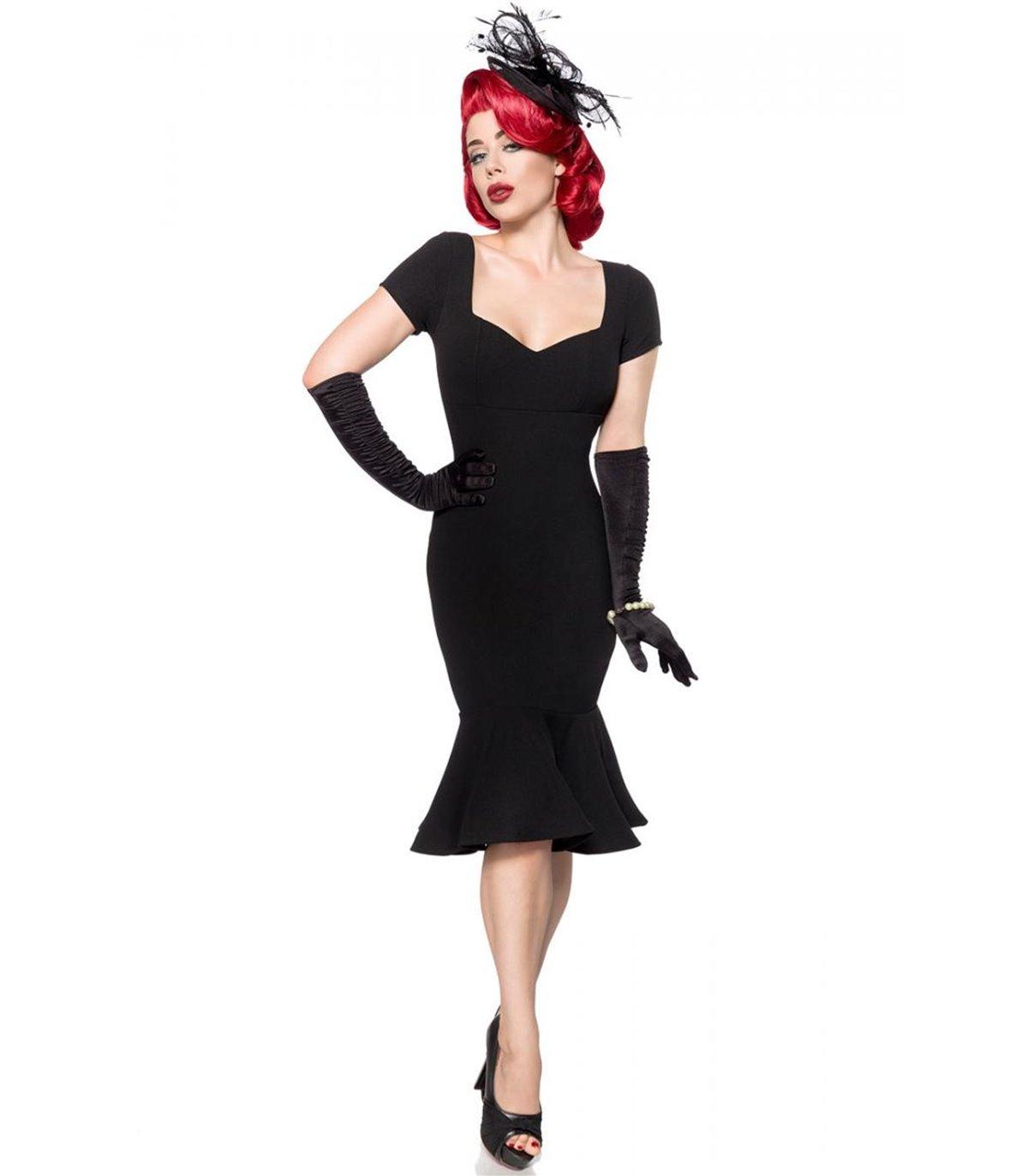 Belsira Retro Kleid schwarz - midi Kleider online günstig ...