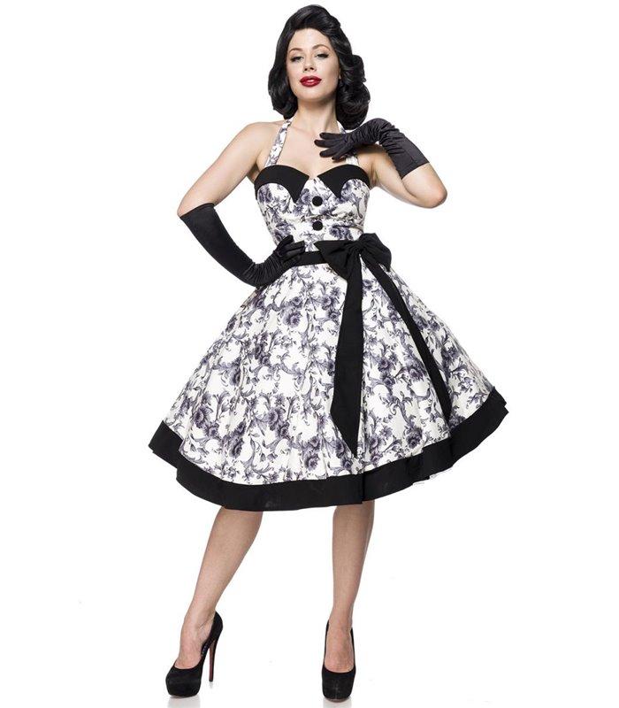 new products cf7e0 6daa3 Belsira Vintage Swing Kleid schwarz/weiss - midi Kleider