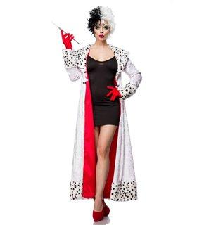 Sexy Evil Dalmatian Lady Kostümset Karneval Halloween