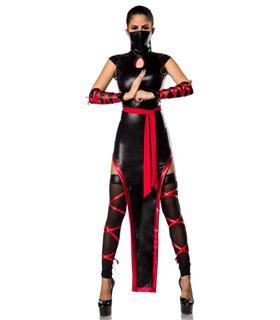 Sexy Hot Ninja Komplettset Karneval Halloween