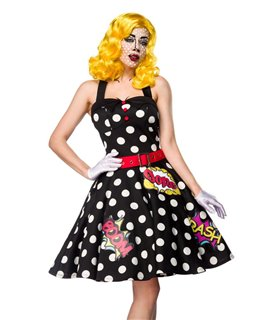 Sexy Pop Art Girl Kostümset Karneval Halloween