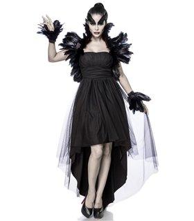 Mask Paradise Komplettset Crow Witch  schwarz
