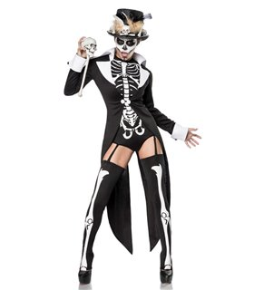 Mask Paradise Komplettset Voodoo Priestess schwarz/weiß