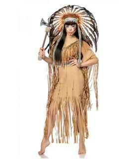 Mask Paradise Indianerinkostüm: Native American beige - Indianer & Cowboys