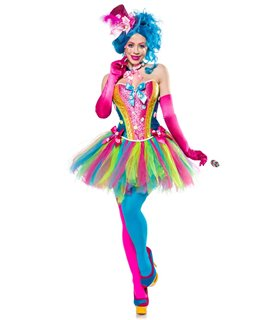 Mask Paradise Candy Girl bunt - Clowns & Harlequins