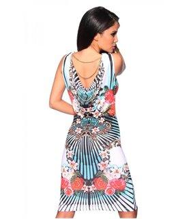 Sexy Kleid mit Ornament - Kleider - Dresses