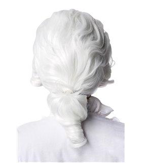 Atixo Barock Perücke mit Zopf weiß
