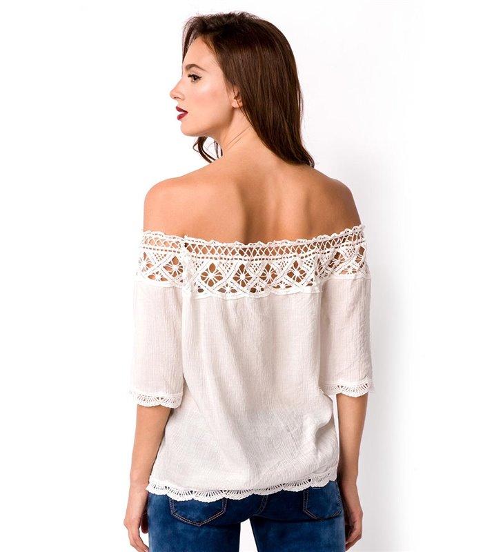 buy online 098bd 5ab13 Atixo Sommerbluse creme - Blusen