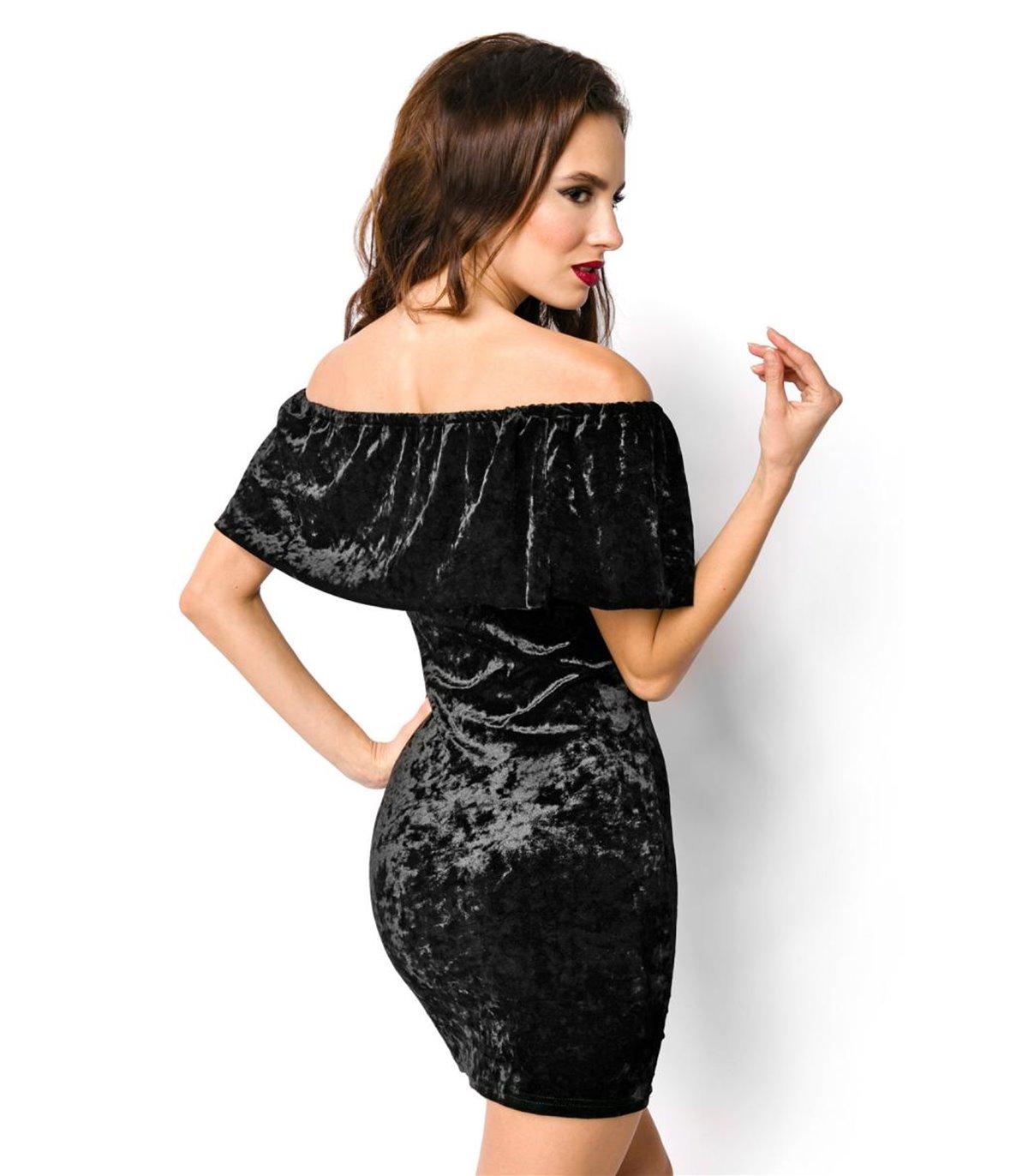 Atixo Samtkleid schwarz - kurze Kleider online günstig kaufen