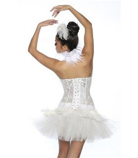 Sexy Black Swan / White Swan Corsage - Corsage & Corset
