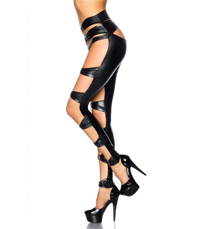 Sexy Wetlook-Gogo-Leggings von Saresia