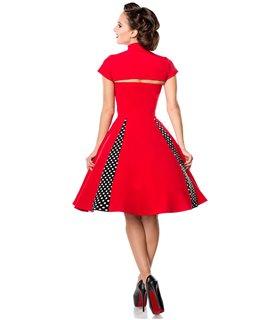 Belsira Vintage-Kleid mit Bolero schwarz/weiss - midi Kleider