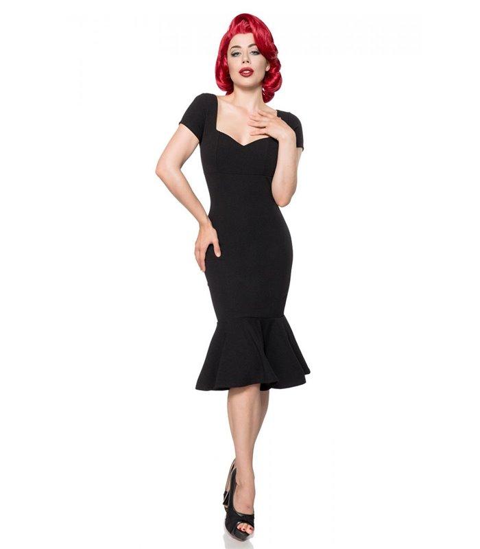 Belsira Retro Kleid schwarz midi Kleider