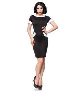 Belsira Vintage-Kleid schwarz/weiss - midi Kleider