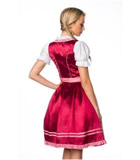 Dirndline Premium Dirndl  rosa/rot