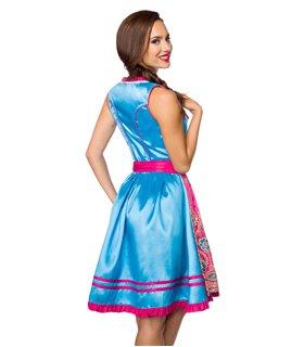 Dirndline Premium Dirndl blau/pink