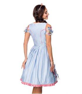 Dirndline Romantisches Dirndl inkl. Spitzenbluse blau/rosa/weiss - Dirndl