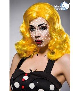 Mask Paradise Pop Art Perücke gelb