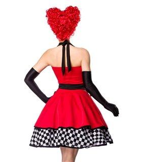 Sexy Queen of Hearts Kostümset Karneval Halloween