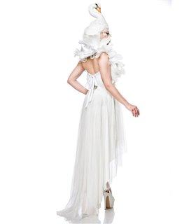 Mask Paradise Komplettset White Swan  weiß