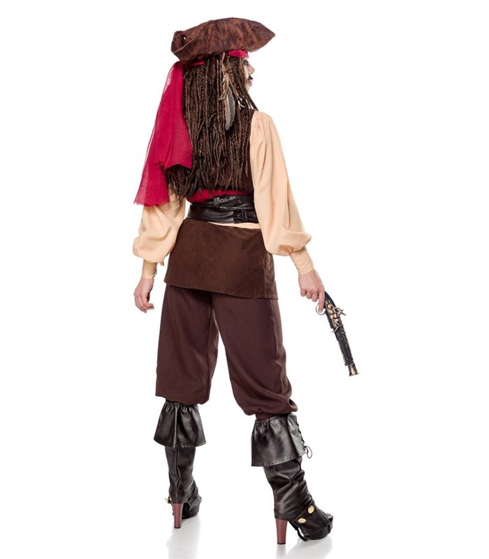 Mask Paradise Miss Captain of the Caribbean braun - Piraten