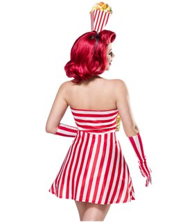 Mask Paradise Popcorn Girl rot/weiss - Sonstiges