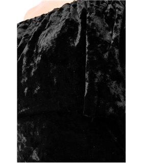 Atixo Samtkleid schwarz - kurze Kleider