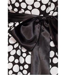 Belsira  Vintage-Bandeau-Kleid schwarz/weiss - midi Kleider