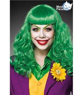 Mask Paradise Lady Joker Perücke grün