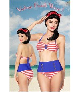 Sexy Vintage-Bandeau-Bikini  Beachwear - Summer