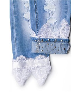 Sexy Capri-Jeans mit Spitze Hose original bestellen