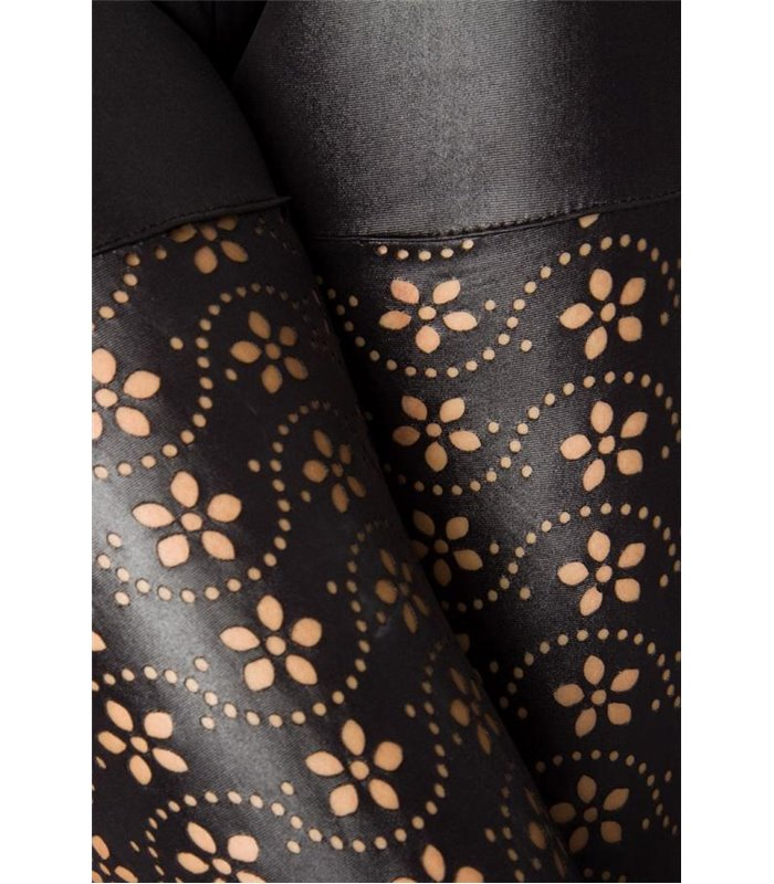 8626e01cf70d6 Atixo Leggings mit Lochmuster schwarz - Hosen & Leggings