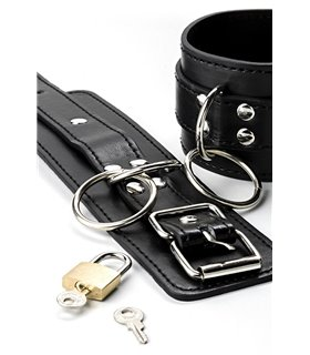 Grey Velvet Leder-Handschellen von Grey Velvet schwarz - Handschuhe