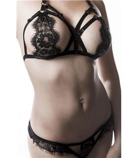 Grey Velvet 2-teiliges Erotikset von Grey Velvet schwarz - BH's & BH Sets