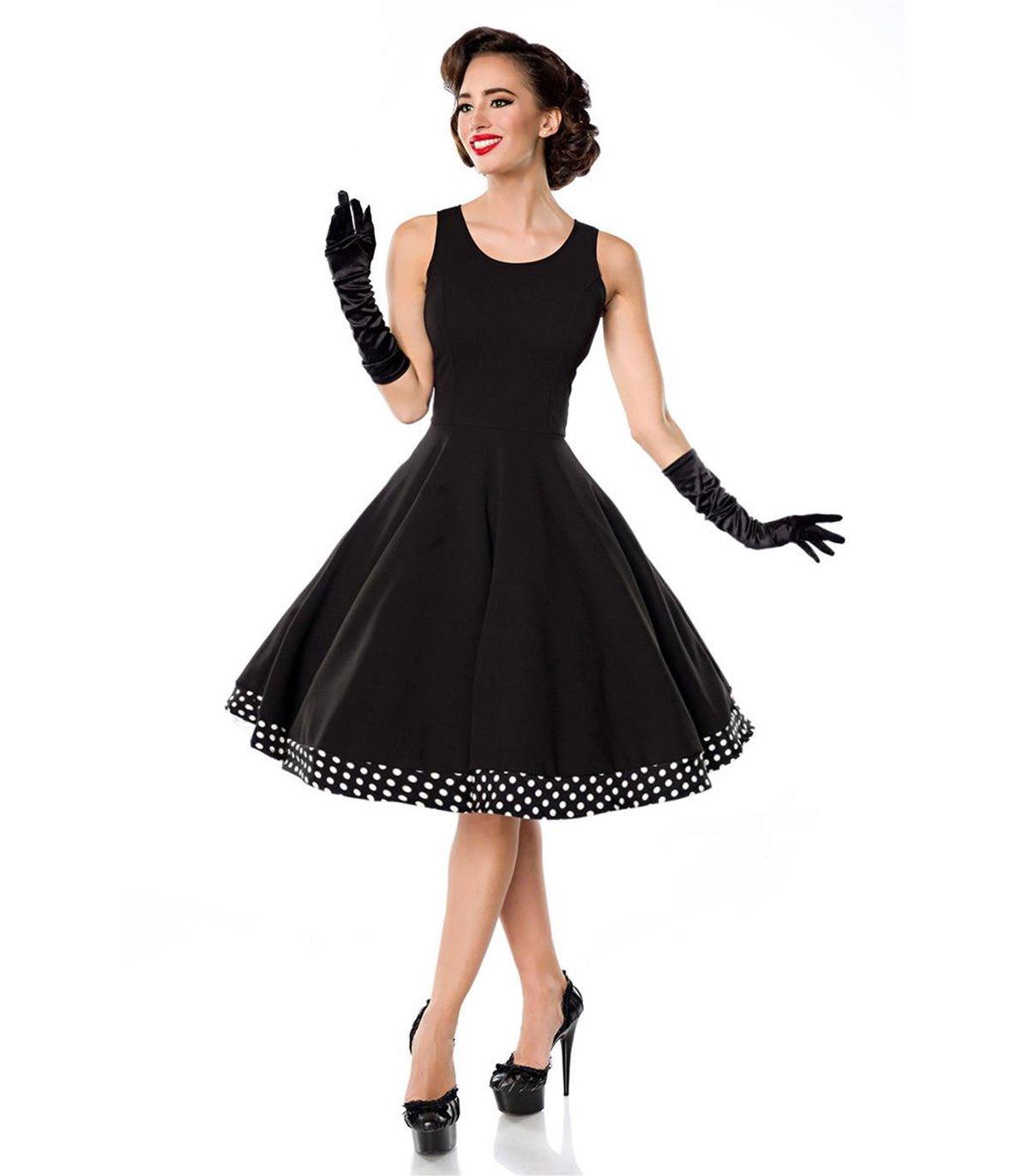 Belsira Swing-Kleid mit Cape schwarz/weiss - midi Kleider ...