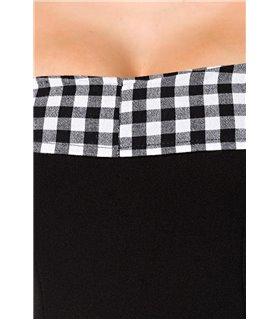 Belsira schulterfreies Swing-Kleid schwarz/weiss - midi Kleider