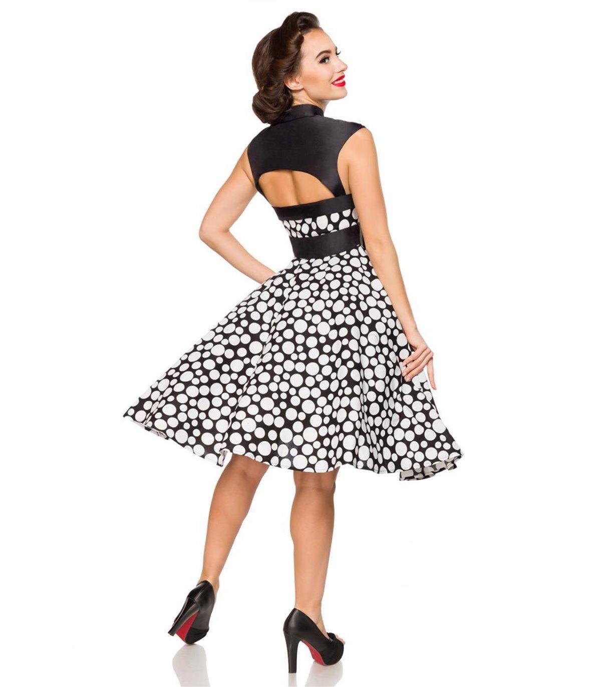 Belsira Vintage-Kleid schwarz/weiss - midi Kleider online ...