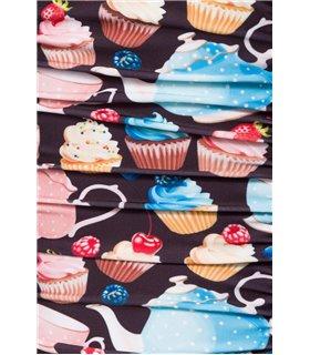 Belsira Vintage Badeanzug schwarz/pink - Monokinis & Badeanzüge