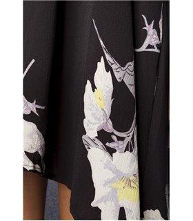 Hipstylers Kleid weiss/schwarz - lange Kleider