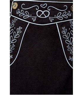 Dirndline Trachtenrock mit Stickereien schwarz